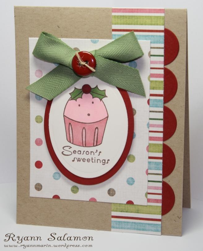 Season's Sweeting Cuppie Card